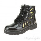 Lelli Kelly Ali Di Fata Stivale Girls Black Glitter Boot