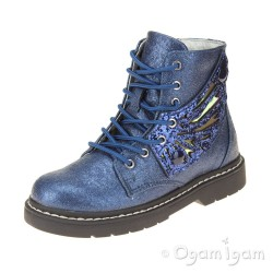 Lelli Kelly Ali Di Fata Girls Blue Ankle Boot