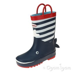 Chipmunks Moby Boys Navy Wellington Boot
