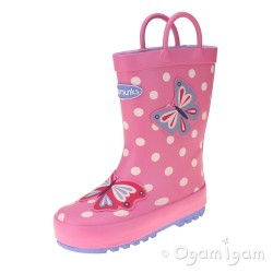 Chipmunks Beatrix Girls Cranberry Wellington Boot