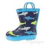 Chipmunks Finn Boys Blue Wellington Boot