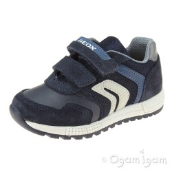 Geox Alben Boys Navy Dark Avio Shoe