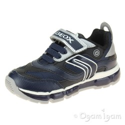 Geox Android Boys Navy Silver Trainer