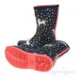 Joules Navy Unicorn Welly Girls Navy Waterproof Boot