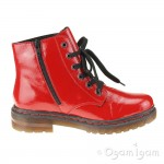 Rieker 7624035 Womens Red Warm-lined Boot