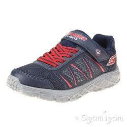 Skechers Dynamic Flash Boys Navy Red Trainer