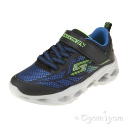 Skechers Vortex Flash Boys Blue Lime Trainer