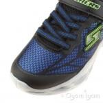 Skechers Vortex Flash Boys Blue Lime Trainer