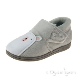 Chipmunks Arctic Boys Girls Light Grey Slipper