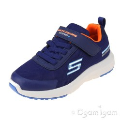 Skechers Dynamic Tread Boys Navy Waterproof Trainer