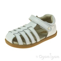 Bobux Jump Girls White Sandal