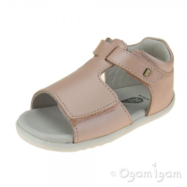 Bobux Mirror Infant Girls Seashell Shimmer Sandal