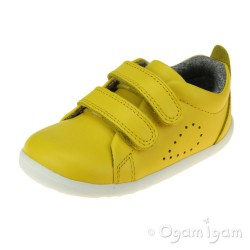 Bobux Grass Court Junior Boys Girls Lemon Shoe