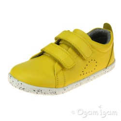Bobux Grass Court Junior Girls Lemon Shoe