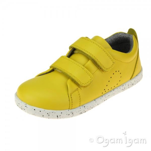 Bobux Grass Court Girls Lemon Shoe