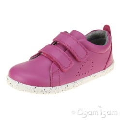 Bobux Grass Court Girls Raspberry Shoe