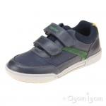 Geox Poseido Boys Navy Green Shoe