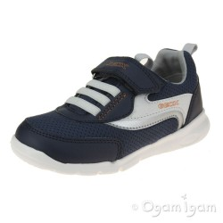 Geox Runner Boys Navy Orange Trainer