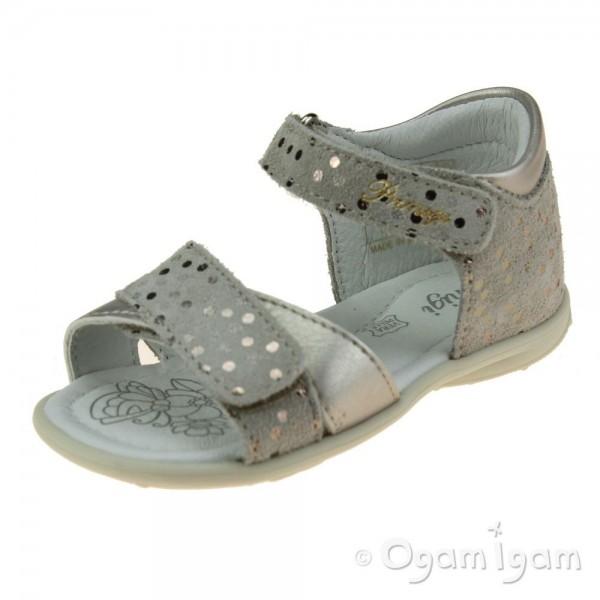 Primigi 7411622 Girls Beige/Silver Sandal