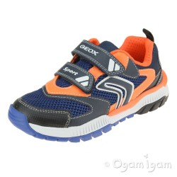 Geox Tuono Boys Navy/Orange Trainer