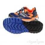 Geox Tuono Boys Navy/Orange Trainer