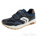 Geox Pavel Boys Navy Trainer