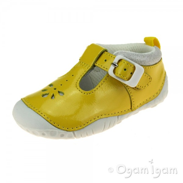 Start-rite Baby Bubble Girls Yellow Patent Shoe