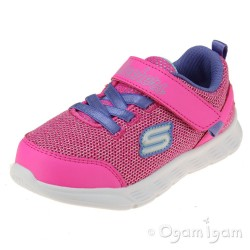 Skechers Comfy Flex Moving On Girls Hot Pink/Purple Trainer