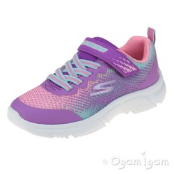 Skechers Go Run 650 Girls Purple Multi Trainers