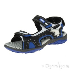 Primigi 7462511 Boys Black/Blue Open Toe Sandal
