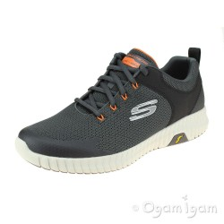 Skechers Elite Flex Prime Take Over Mens Charcoal/Orange Trainer