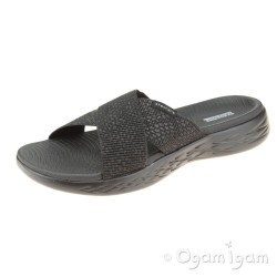 Skechers On The Go Glistening Womens Black Sandal