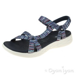Skechers On The Go Electric Womens Navy/Multi Sandal