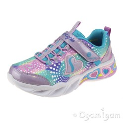 Skechers Sweetheart Lights Girls Lavender/Multi Trainer