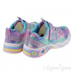 Skechers Sweetheart Lights Girls Lavender/Multi Trainer