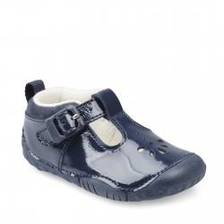 Start-rite Baby Bubble Girls Navy Patent Shoe