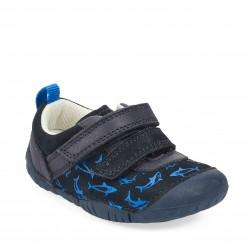 Start Rite Little Fin Infant Boys Navy Shoe
