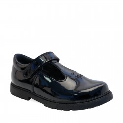 Start Rite Liberty Girls Black Patent School Shoe