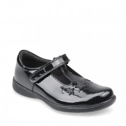 Start Rite Star Jump Girls Black Patent School Shoe