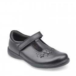 Start Rite Star Jump Girls Black School Shoe