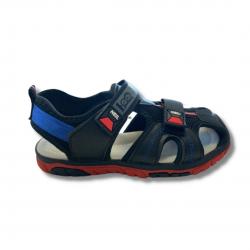 Closed Toe Sporty Boys Black Sandal