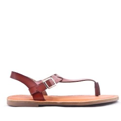 Thong Womens Camel Sandal
