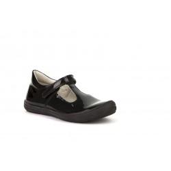Froddo Mia Girls Black Patent T-Bar School Shoe