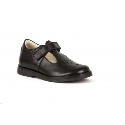 Froddo Evia Girls Black T-Bar School Shoe
