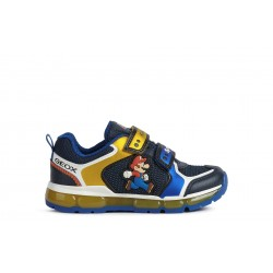 Geox Android Super Mario Boys Royal/Yellow Trainer