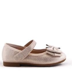 Bow Ballerina Girls Gold Shoe