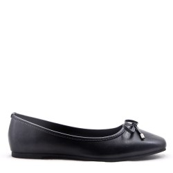 Ballerina Bow Womens Black Shoe