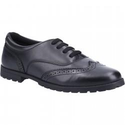 Hush Puppies Eadie Snr Girls Black Lace Up School Shoe