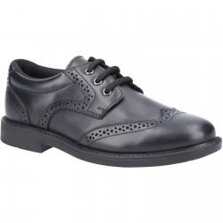 Hush Puppies Harry Boys Black Lace Up School Shoe