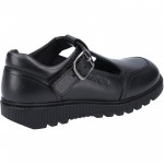 Hush Puppies Kerry Girls Black T-bar School Buckle Shoe